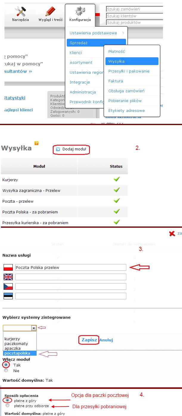 6e0ea18cb4bb05 Dla usługi Elektroniczny Nadawca potrzebujemy dwóch modułów dla systemu  zintegrowanego Poczta Polska i dwóch dla systemu Poczta Polska Biznes.