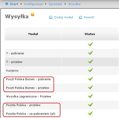 27508a593d039d Edytujemy moduł, gdzie wypełniamy polaużytkownik (login) i hasło (password)  zgdonie z danymi, jakie otrzymaliśmy od Poczty Polskiej (pkt. 6).